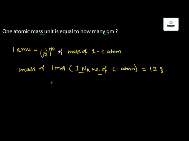 One Atomic Mass Unit Is Equal To